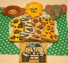 jeep cookies one preppy cookie safari birthday cookies