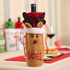 deer home decor mayitr christmas santa deer elk snowman wine bottle gift bag