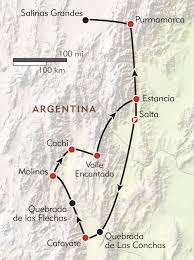 Wild Horses In America Map by Hiking In Salta And Jujuy Itinerary U0026 Map Wilderness Travel