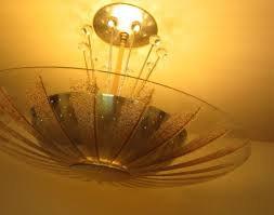mid century ceiling light 1950s ceiling fixture by lightolier