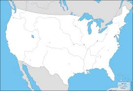 World Map Unlabeled United States Of America Usa Free Maps Blank Inside Usa Map No