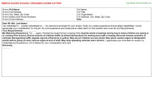 crossing guard cover letters