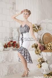 hem wedding dress black and white wedding dress with high low hem 1st