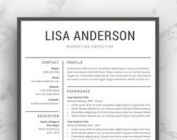 modern resume exles for executives resume template cv template for word professional resume