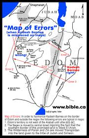 Negev Desert Map The Exodus Route A Scriptural Proof With The Witness Of History