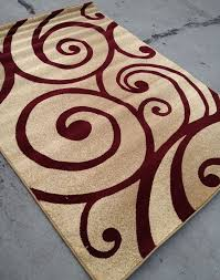 modern style contemporary rug 8x10 8 x 10 carpet rugs red beige