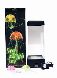 amazon com aqua neon led colour changing jellyfish jelly fish in