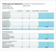 Project Profit And Loss Template Excel Profit And Loss Template 18 Free Documents In Pdf Word