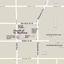 Map Of St Paul Mn Church Of St Matthew The Church Of Saint Matthew