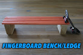 How To Build A Wood Toy Box Bench by How To Make A Fingerboard Bench Ledge Box Tutorial Youtube