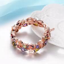 bracelet luxury charms images Fym luxury charm cz diamond bracelet trendy rose gold plated jpg
