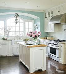 ivory kitchen cabinets what color walls kitchen paint colors with cream cabinets view in gallery mint and