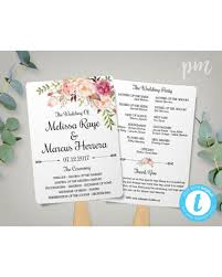 diy wedding program template new savings on wedding program fan template bohemian floral