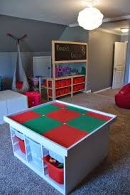 building table with storage table using ikea s trofast system boys room pinterest diy