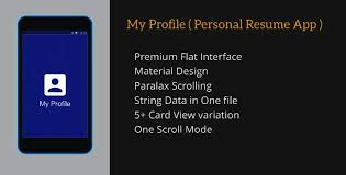 my profile personal resume app by dream space codecanyon