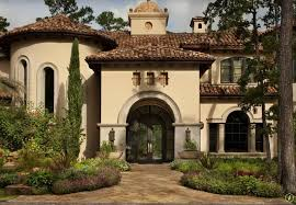 Mediterranean Exterior Home Design With Trees Types Exterior