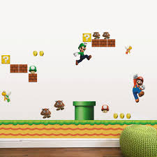 Super Mario Bedroom Decor Classical Game Super Mario Wall Stickers For Kids Room Home Decor