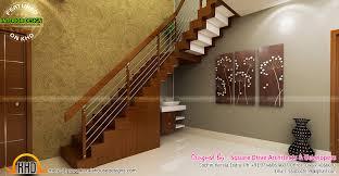 home interior design kerala style stair area upper living bedroom interiors kerala home design