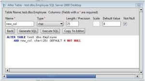 Sql Server Alter Table Change Column Name Ms Sql Server Add Column To Ms Sql Server Database Tables Via The