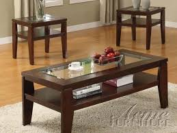 Coffee And End Table Sets Furniture Acme 18462 Brian 3pc Coffee End Table Set