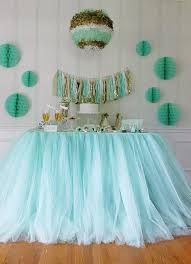 cheap baby shower decorations 2018 100 80cm mint green tulle table skirts wedding tutu table