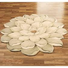 Round Wool Rugs Floors U0026 Rugs Mwhite Floral Circle Rugs For Contemporary Interior