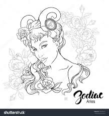 zodiac aries coloring page shutterstock 325965014