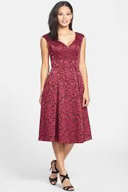 adrianna papell floral jacquard fit u0026 flare midi dress petite