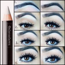 beauty trick white eyeliner makeup pinterest white eyeliner