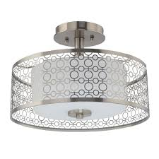 home decorators collection 1 light brushed nickel led semi flush