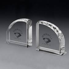 Engraved Bookends Pair