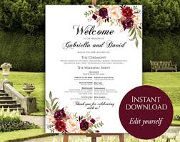 wedding poster template wedding poster etsy