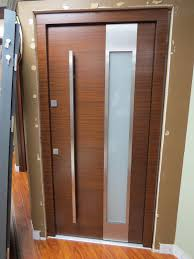 Modern Entry Doors by Model 002 Walnut Meranti Wood Exterior Door Modern Home Luxury