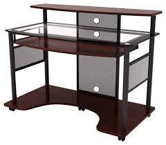 multi tiered computer desk popular 2 tier computer desk intended for amazon com topeakmart with