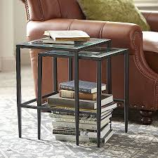 crate and barrel nesting tables coffee tables awesome crate and barrel travertine coffee table high