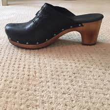 ugg australia clogs sale 70 ugg shoes ugg black leather clogs w stitching from