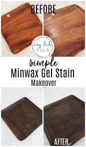 how to use minwax gel stain on kitchen cabinets simple minwax gel stain makeover artsy rule