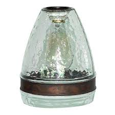 Green Pendant Light Shade Shop Portfolio 7 5 In H 6 In W Clear Textured Glass Bell Pendant