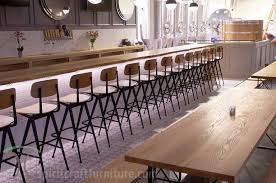 Live Edge Bar Table Live Edge Ash Bar Tops And Restaurant Tables At Chicago Brewery