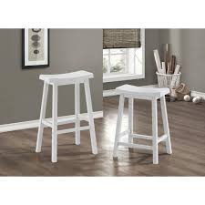 monarch specialties saddle 29 in white bar stool set of 2 i