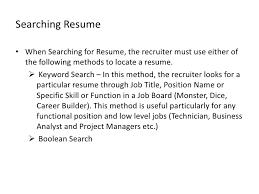 Dice Resume Search Us Recruitment