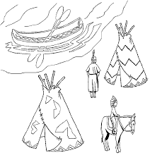 coloring page native americans coloring home