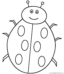 the lady bug on leaf coloring page letter l coloring sheet