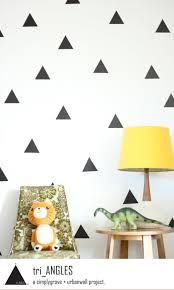 vinyl wall sticker decal art triangles zoom