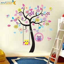 sticker pour chambre hiboux arbre stickers muraux pour chambre de bébé 78ab animaux