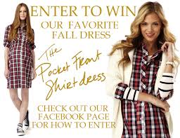Maternity Plaid Shirt Fall Dress Giveaway Rosie Pope Maternity