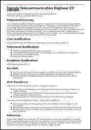 Sample Of Key Skills In Resume by Sample Telecommunication Engineer Cv Sample Myperfectcv