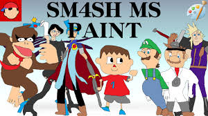 ohko sm4sh ms paint portraits super smash bros for wii u gui mods