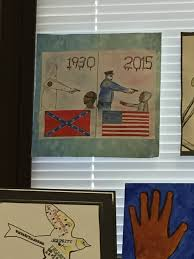 cop dad outraged by teacher hanging artwork depicting police as