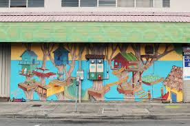 wooden wave mural pow wow hawaiipow wow hawaii wooden wave